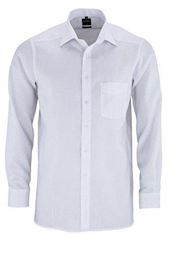 OLYMP Luxor modern fit Hemd Langarm mit New Kent Kragen Natte weiß Größe 42