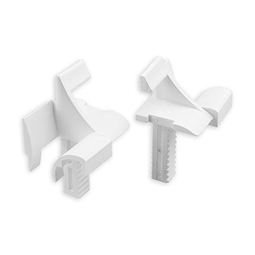 DIWARO® Einlauftrichter für Mini-Führungsschiene | für Blendenkappen an Vorbaurolladen | 11 mm | weiß