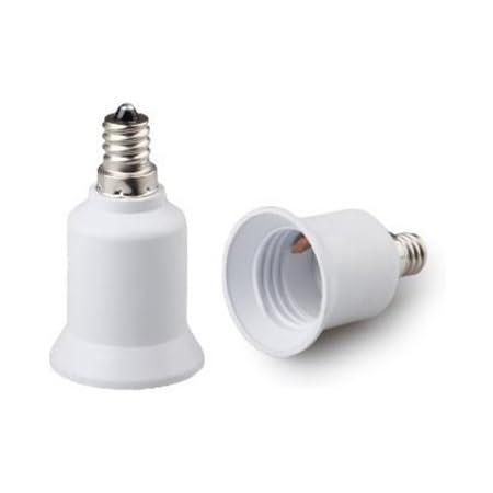 Edison-Schraube Bajonett E12 auf E14 Lampe Fassung Sockel Konverter Adapter