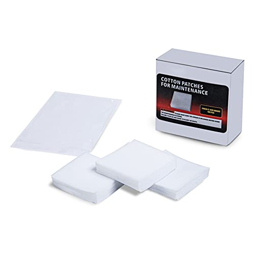 Newship 100PCS 2×2 Inches Professional Square Gun Cleaning Patches Cloth Gun Cleaning Kit Pads Wipes for All Caliber Rifle Pistol Firearms Maintenance