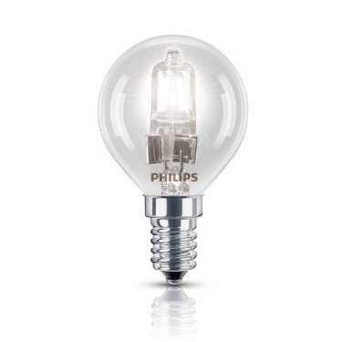Philips GLS Golfball E14 SES Halogen EcoClassic P45, energiesparend, dimmbar, 220-240 V, 42 W, 4 Stück