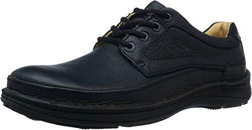 Clarks Nature Three Mens Casual Shoes 42 EU Schwarz
