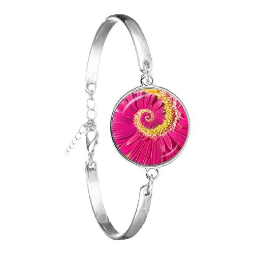 Cabala Mandala Pulsera Flor Árbol de la Vida Cristal Cabujón Negro/Marrón Brazaletes De Cuero Para Hombres Mujeres Joyería Regalo Creativo