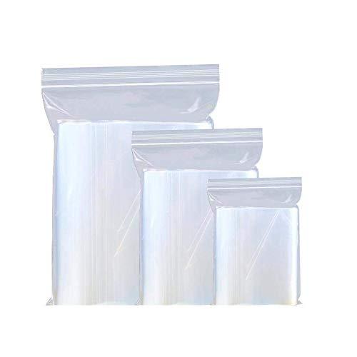 DIMSAN 1000x Druckverschlussbeutel Tütchen in 10 Wählbaren Größen | Extra Stabil 50 mμ Dick | Zip Lock Schnellverschluss Tüten | Zip Verschlussbeutel | (BPA Frei) (40 x 60 x 0,05 mm)
