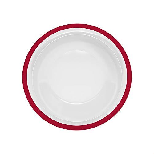 Ornamin Teller tief Ø 22 cm Rand rot Melamin (Modell 505) / Kunststoffteller, Speiseteller, Suppenteller