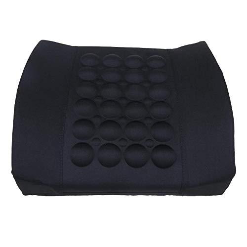 weichuang Universelles Reisekissen, elektrisch, Massage, für Auto, Rückenlehne, Taillenstütze und Lendenwirbelstütze, Stuhlkissen
