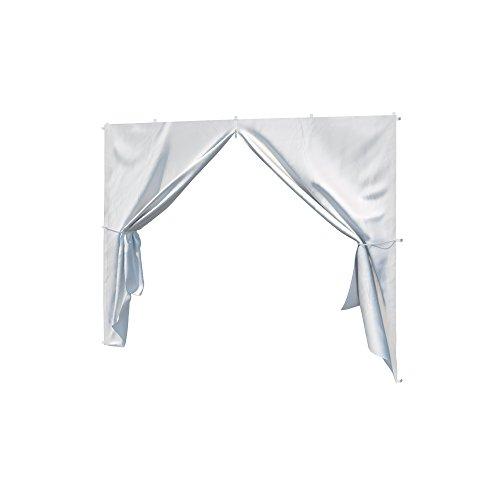 paramondo Seitenwand-Tür mit Reißverschluss für Steckpavillon weiß