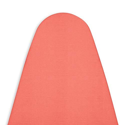 Encasa Homes Housse Table à Repasser avec Feutre épaisseur 4 mm - Coral - Plain Couleurs Cotton, Elastic (Convient à la Norme Grandes Boards of 122 x 38 cm) Réfléchissant à la Chaleur