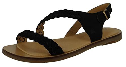 El Naturalista Mujer Sandalia con Tiras Tulip, señora Sandalias,Sandalia,Zapato de Verano,cómoda,Plana,Negro (Black /),40 EU / 7 UK