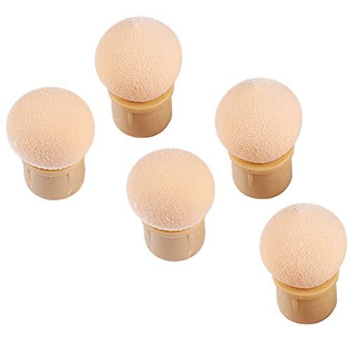 Ronde éponge gradient Têtes Replaceable Brosse à ongles Shade Maker Pen manucure outil 5 pièces