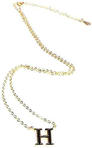 ZJJLWL Co.,ltd Collar Collar Simple Collar con Letra H en inglés Joyería pequeña conBorla Fresca