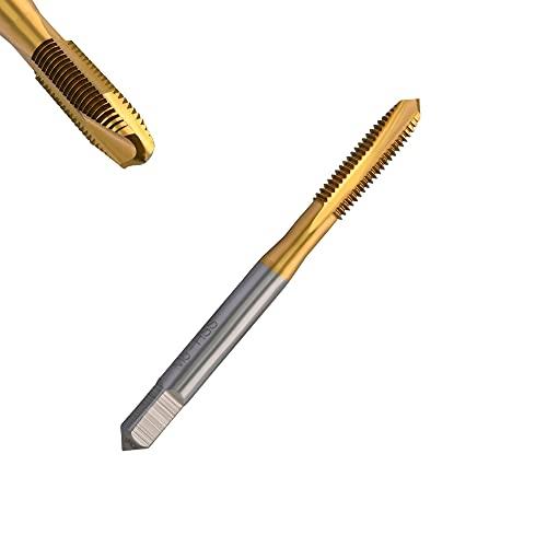 Corintian HSS TiN Gewindeschneider Form D, Ø M2 - M20, Gerade Nut, Universal Gewindebohrer, Maschinengewindebohrer, für Durchgangslöcher (M5)