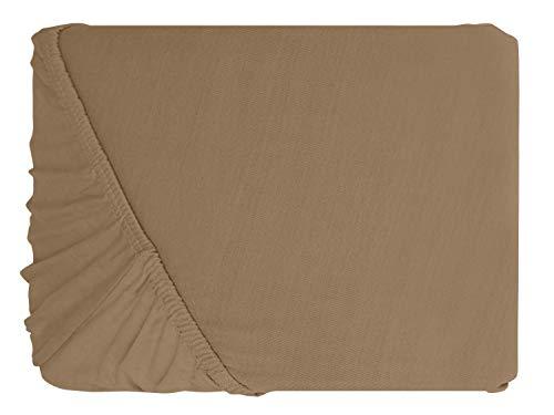 #6 npluseins Kinder-Spannbettlaken, Spannbetttuch, Bettlaken, 70×140 cm, Sand - 2