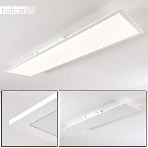 LED Deckenpanel Antria, moderne Deckenleuchte aus Kunststoff in Weiß, Panel mit 40 Watt, 3000 Lumen, Lichtfarbe 4000 Kelvin, rechteckige Deckenlampe in flachem Design