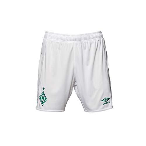 Umbro Herren Fußball SV Werder Bremen Home Hose 2018 2019 Heimshorts weiß grün Gr XXL