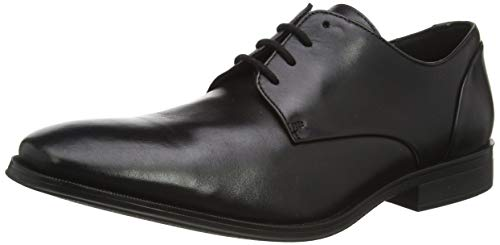 Clarks Herren Derbys, Schwarz (Black Leather Black Leather), 45 EU