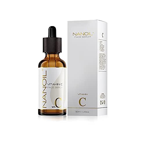 Nanoil Vitamin C Face Serum - Sérum facial aclarador, iluminador y antienvejecimiento con vitamina C