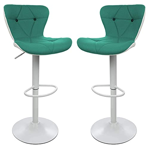 Halter Barstool, Adjustable Height Stool Chairs, Counter Height Swivel Bar Stools for Kitchen Island, Bar Chair, Counter Stool, Barstool Set of 2, Green