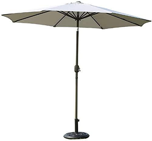 SAFGH Sombrilla de jardín de 8 pies con Parasol de Patio inclinable de Acero y manivela de Cuerda, Adecuada para cafetería, jardín de casa, césped al Aire Libre (NO Base)