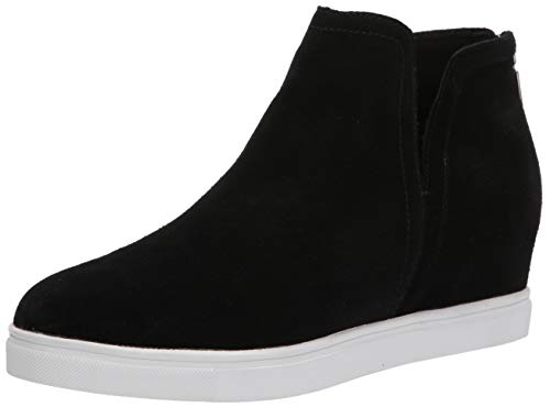 Blondo Women's Wedge Sneaker, Black Suede, 7.5