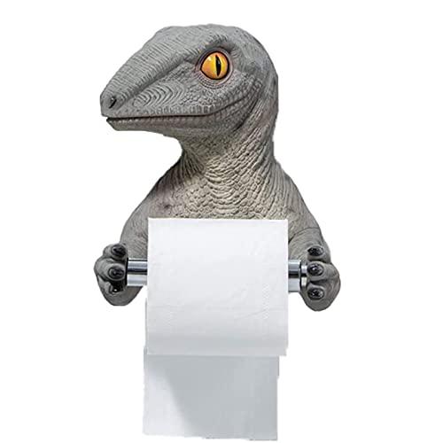 Feixing Caja de pañuelos creativa resina estante de pared titular de papel higiénico Cartoon dinosaurio toalla rack dormitorio rollo titular