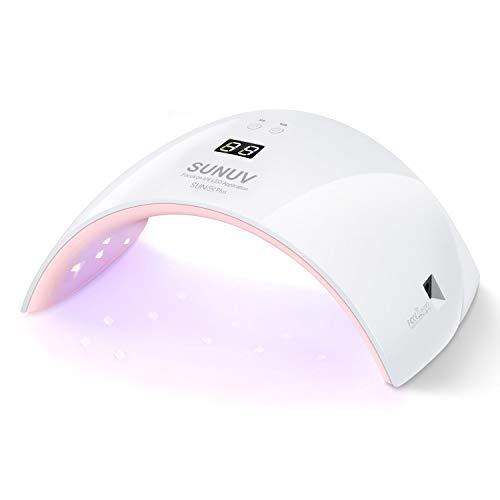 Secador de Uñas, Lámpara de Uñas LED SUNUV 36W UV con Sensor Automático, Pantalla LCD para Manicura y Pedicura en el Hogar y Salón