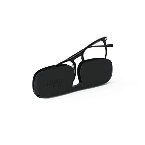 Nooz Lesebrille - Farbe Schwarz Korrektur +2.00 - Quadratische Form - Lupenbrille für Männer und Damen - Modell Dino Sammlung Essential