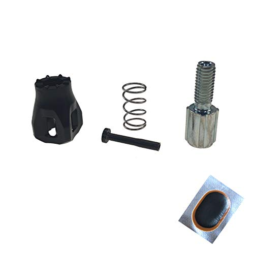 maxxi4you Juego de 1 x Shimano para cambio de bicicleta, con tornillo de ajuste RD5800 4TLG negro/plata, incluye 1 parche de manguera