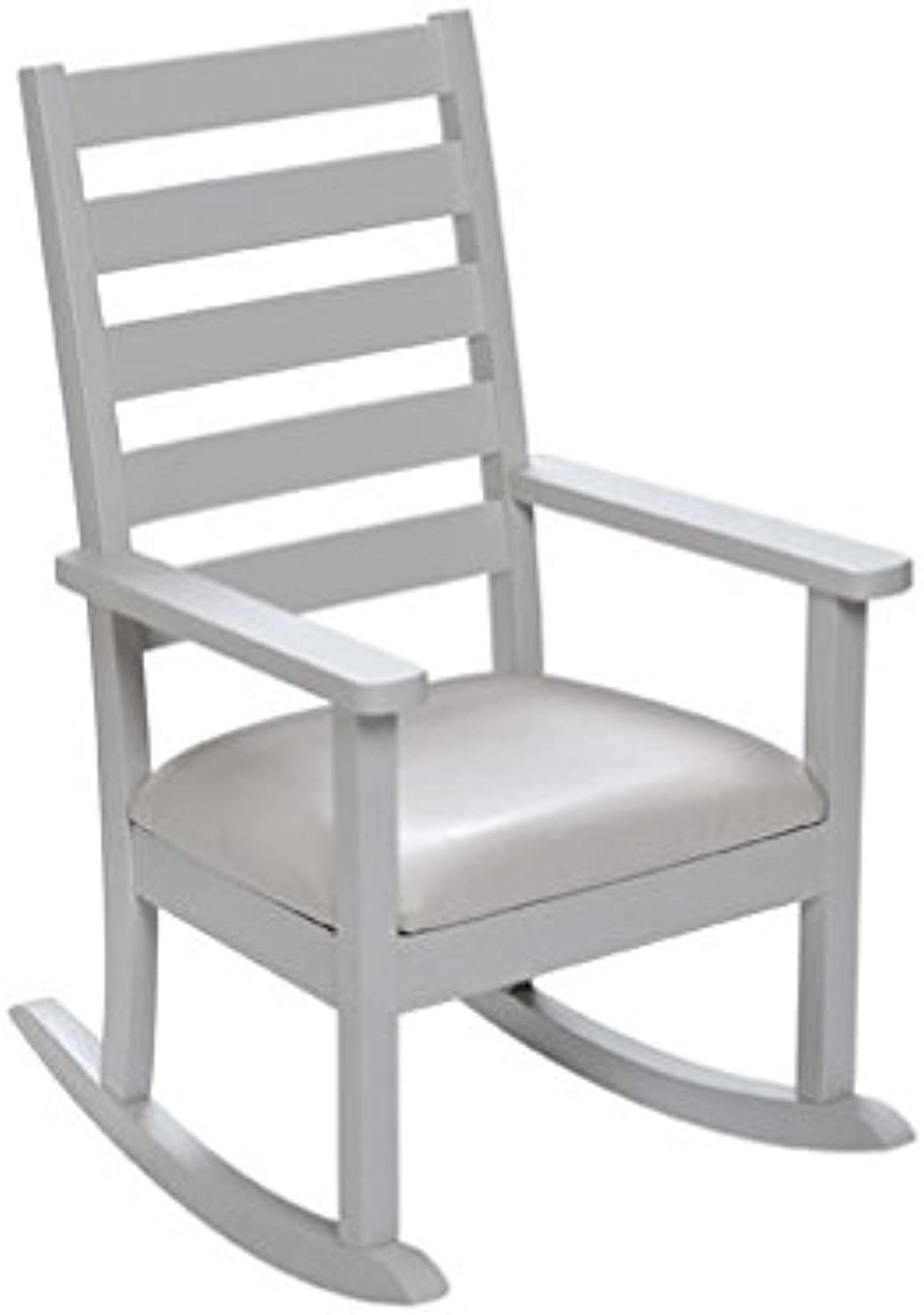 Giftmark Kids White Chair with Upholstered Seat (Matches Set 23005E), One Size, White