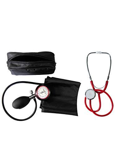 Blutdruckmessgerät, Oberarm, 1-Schlauch TIGA-Gold 1 plus Stethoskop Flachkopf rot TIGA-MED