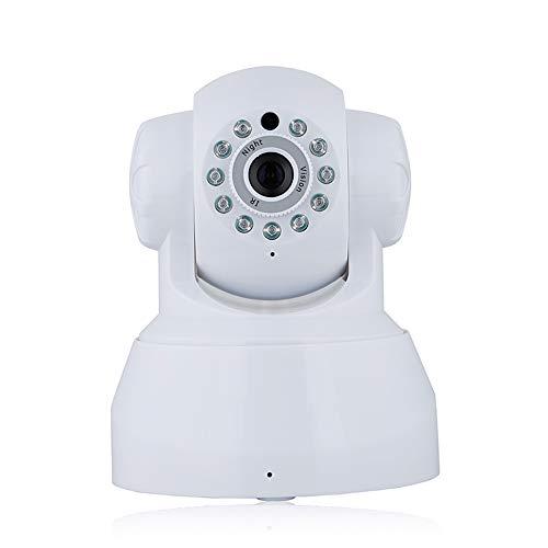 LQQZZZ Cámara IP De La Cámara WiFi 1080P Inicio De Seguridad De Onvif P2P Teléfono Remoto Inalámbrico De Vigilancia De Vídeo De 1.0MP De Infrarrojos De Visión Nocturna De Dos Vías De Llamadas,Blanco