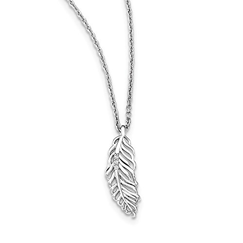 925 Sterling Silver Diamond Feather Chain Necklace Pendant Charm Wing Fine Jewelry For Women Gifts For Her