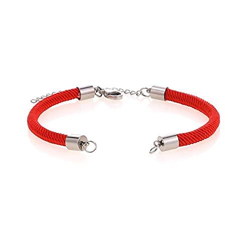 JOMOSIN SFSD807 2 unids Black Red String Cadena Accesorios Cadena de Enlace Ajustable para DIY Conectores de Acero Inoxidable Encantos Pulseras Joyas Búsqueda de Joyas (Color : Red)