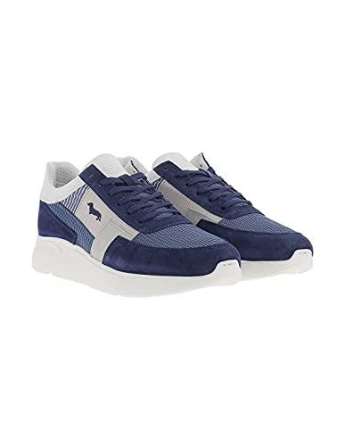 Harmont & Blaine EFM211.090.6230 Sneakers Scarpe Uomo Lacci Stringhe Sky Blu