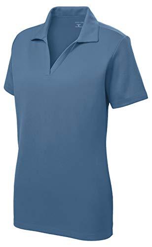 Women's Dri-Equip Short Sleeve Racer Mesh Polo Shirt-S-Dawn