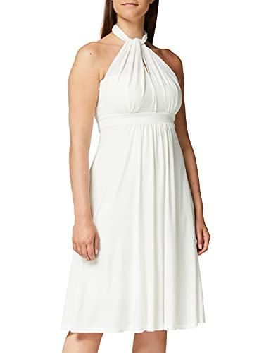 Amazon-Marke: TRUTH & Fable Damen Hochzeitskleid Multiway Midi, Weiß (Ivory), 38, Label:M