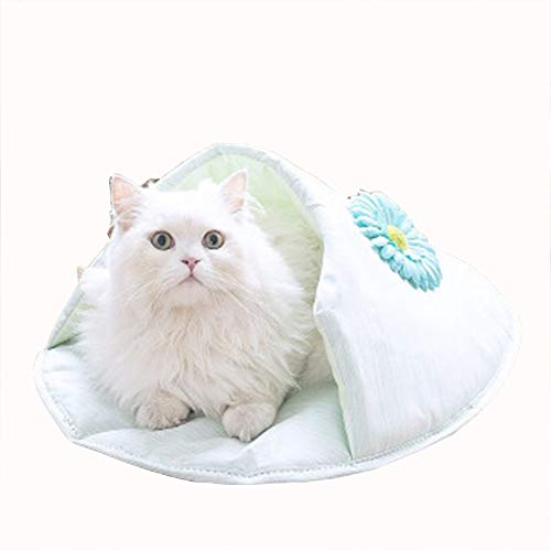 Huisdier bed,Kattennest Kennel huisdier nest Halfgesloten kat slaapzak Huisdier bed Chihuahua kennel Kattennest slippers (binnen 13 kg), size, Blauw