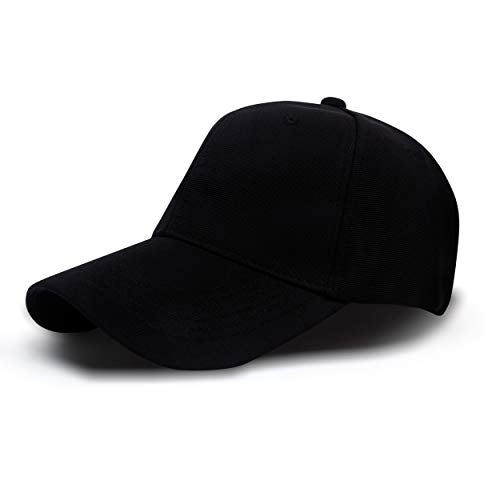 Aavjo Plain Stylish Solid Colour Polyester Snapback Baseball Cap for Men Man Women Woman with Adjustable Buckle (Suitable for Head Size 54-60cm)