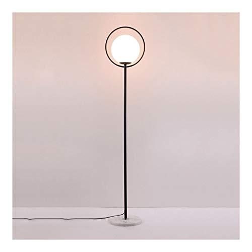 YLSH Duurzame staande lamp staande lamp smeedijzeren staande lamp slaapkamer woonkamer E27 vloerlamp LED glazen bol lampshade Moderne eenvoudige staande lamp staande lamp