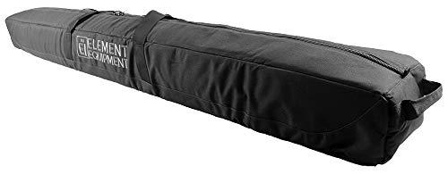 Element Equipment Deluxe Padded Ski Bag Single - Premium High End Travel Bag Black/Grey 175