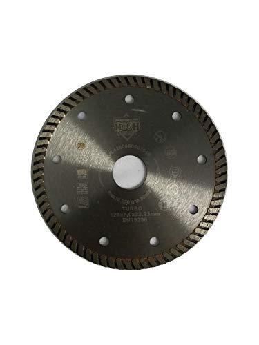 jw-germany Turbo Diamant zaagblad slijpschijf 125 x 22,23 mm boring voor haakse slijper, industriële kwaliteit volgens DIN EN 13236