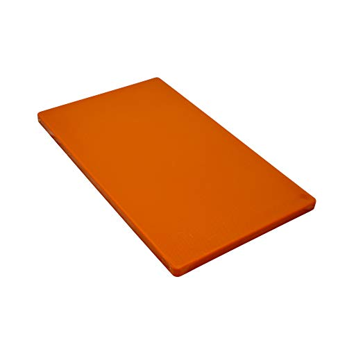 Gastro Spirit - Großes Schneide-Brett/Küchen-Brett - Braun, ca. 60 x 40 x 2 cm, HACCP, Kunststoff, mit rutsch-hemmenden Füßen, Gastro-Qualität