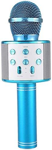 ZYF Micrófono Karaoke Karaoke inalámbrico Micrófono portátil Bluetooth Mini Home KTV para la música Jugando y Cantar Player Player Selfie PC Azul