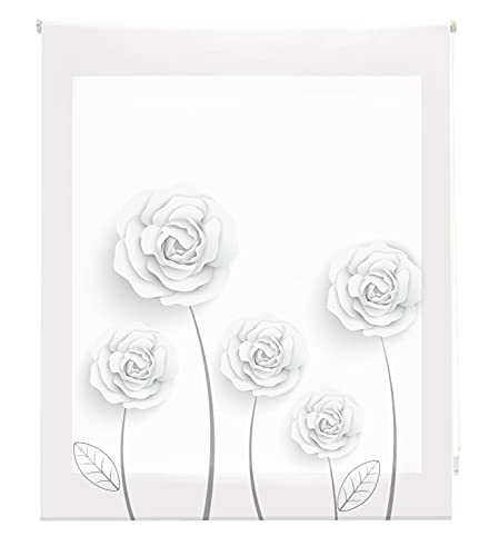 Blindecor Estor Enrollable Digital translúcido Estampado, Garden, 150x180 cm ( Ancho x Alto)