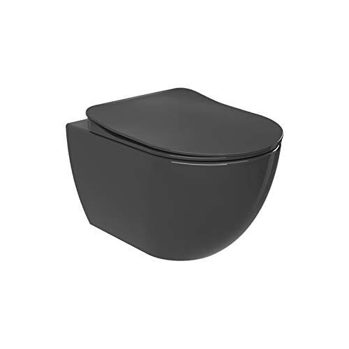 Wand-WC Hänge WC Toilette 352x340x510 mm matt anthrazit Absenkautomatik