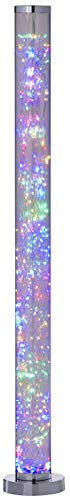 Northpoint Micro LED Tower Lichtsäule Standleuchte Stehleuchte Bunte LEDs Fußtrittschalter hochglanz Chrom-Look Standfuß/Abdeckung