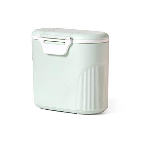 Milchpulver-SpenderTragbarer Baby Milchpulver Behältermilchpulver container mit Gleichmacher 600ML (Grün)