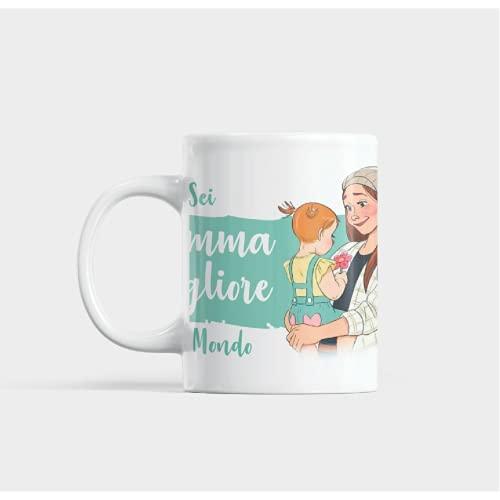 Tazza Festa della Mamma - Regalo festa della mamma -Tazza per la mamma -Idee regalo festa della mamma - Buon compleanno - Tazze originali per caffè latte - Ceramica 350 mL-
