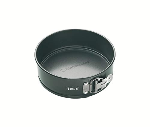 Kitchen Craft Master Class Molde tarta redondo Desmontable, Acero, Negro, 15 cm