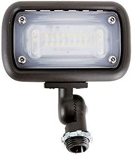 15W Outdoor LED Flood Security Lights, Waterproof Landscape Lighting, 50W PSMH Equivalent, 1500 Lumens, 4000K Cool White, 1/2